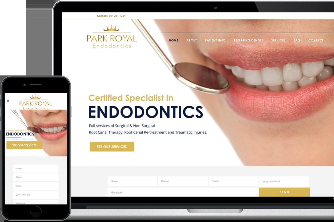 Výsledok wordpress web stránky pre nášho klienta zubnú kliniku vo Vankouveri v Kanade