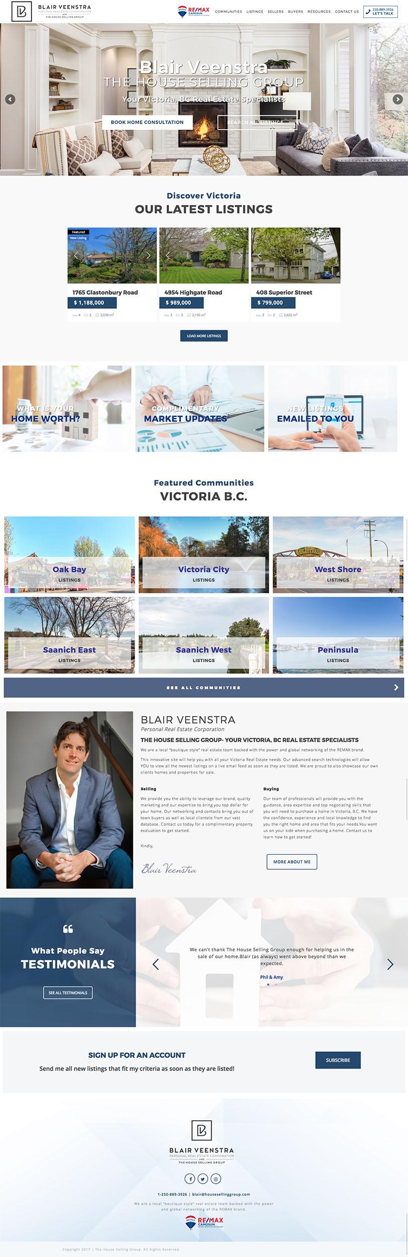 Blair Veenstra Wordpress web stránka