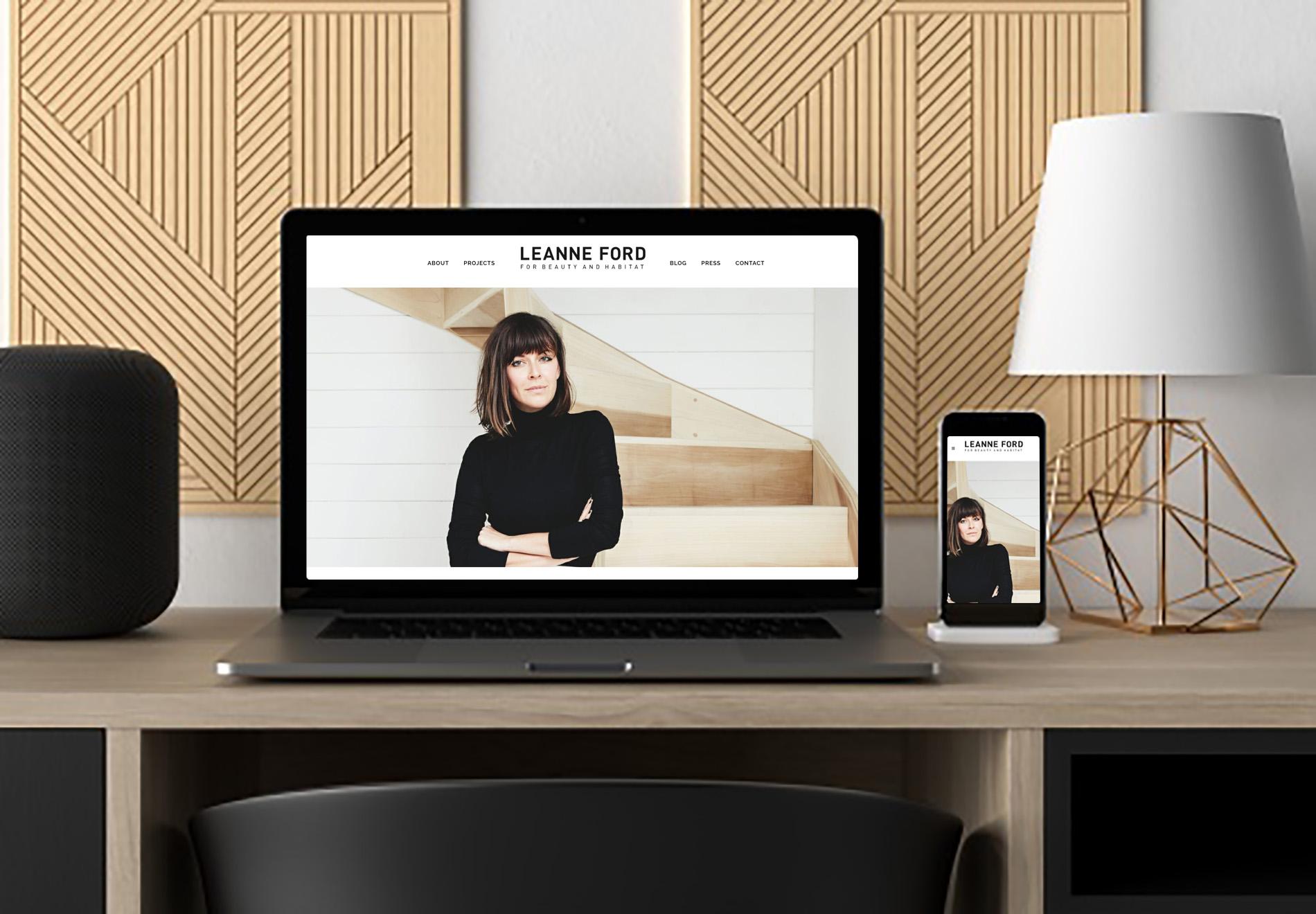 Laptop ukazujúci webstránku interiérovej dizajnérky vytvorenú firmou IdeaMarketing.sk