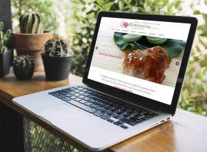 Laptop ukazujúci webstránku akupunktúry vytvorenú firmou IdeaMarketing.sk