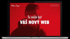 laptop znázorňujúci tvorbu vašej webstránky
